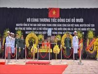 Lễ an táng cố Tổng Bí thư Đỗ Mười tại quê nhà