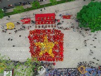 Clip 108 con lân đồng diễn xác lập kỷ lục Guinness Việt Nam