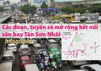 Các đoạn, tuyến sẽ mở rộng kết nối sân bay Tân Sơn Nhất