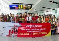 VietJet khai trương đường bay Hà Nội - Singapore