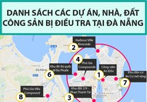 9 dự án, 31 nhà, đất công ở Đà Nẵng đang bị điều tra