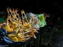 Nhổ lông gà, vịt, heo... bằng nhựa thông: Tiện người bán, hại người ăn