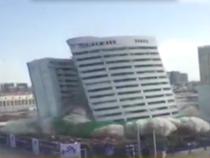 Clip tòa nhà 18 tầng bị đánh sập trong vòng năm giây