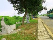 Vườn tượng danh nhân ở làng đại học