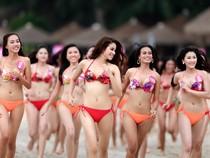 Nóng bỏng với dàn mỹ nhân HH Hoàn vũ 2015 trên bãi biển Nha Trang