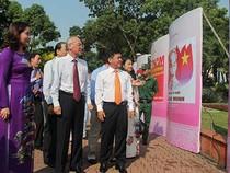 Triển lãm tranh cổ động chào mừng ngày thống nhất đất nước