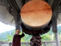 Chiêm ngưỡng chiếc trống độc nhất vô nhị ở ngôi chùa quê