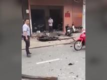 Clip: Hiện trường vụ nổ tại công an phường 12...