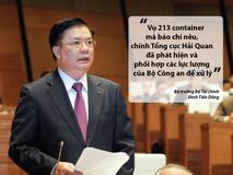 Bộ trưởng Tài chính nói về vụ 213 container 'biến...