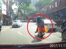 Xe tay ga đang chạy trên phố bỗng đột...