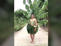 Thời trang 'cây nhà lá vườn' siêu độc đáo...