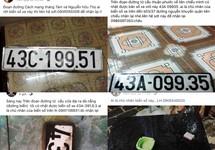 Tìm và nhặt biển số xe sau mưa ngập nóng trên mạng xã hội