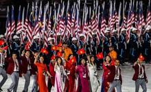 Đoàn thể thao Việt Nam diễu hành khai mạc SEA Games 29