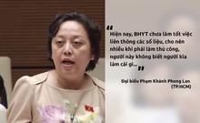 Đại biểu Phong Lan tranh luận với tổng giám đốc BHXH VN