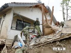 Khó khăn trong cứu hộ vụ sạt lở đất tại Nhật Bản