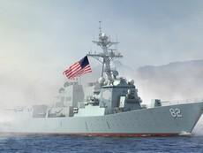 Toàn cảnh chiến hạm Mỹ áp sát đá Subi ở Trường Sa
