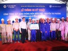 Đà Nẵng thưởng nóng cho công nhân thi công hầm chui