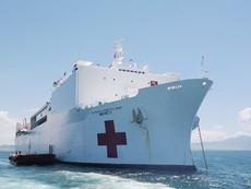 Cận cảnh tàu bệnh viện trên biển của Hải quân Hoa Kỳ