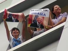 Người Sài Gòn nồng nhiệt chào đón ông Obama