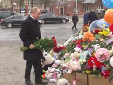 Ông Putin viếng các nạn nhân vụ cháy ở Kemerovo