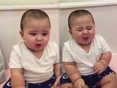 Clip: Ngộ nghĩnh xem bé lần đầu ăn chanh