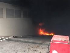 Cận cảnh vụ cháy lại mới đây tại chung cư Carina