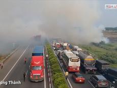 Vụ tai nạn trên cao tốc Long Thành quay bằng Flycam