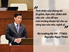 Bộ trưởng Văn hóa trả lời về cấp phép ca khúc