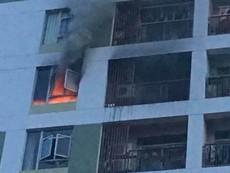 Cháy tại tầng 8 chung cư ParcSpring, quận 2