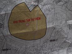 Dân Thủ Thiêm trình bản đồ chứng minh nằm ngoài khu giải tỏa
