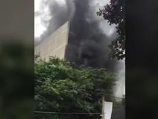 Cháy công trình xây dựng ở bệnh viện Việt Pháp