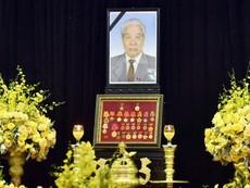 Lễ viếng nguyên Tổng Bí thư Đỗ Mười