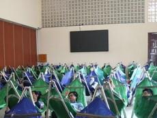 Giấc ngủ thoải mái của sinh viên tại khu nghỉ trưa