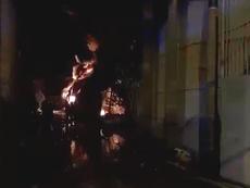 Clip: Đang cháy dữ dội ở Khu công nghiệp Trà Nóc