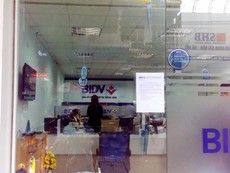 Chi nhánh BIDV bị cướp vẫn hoạt động bình thường