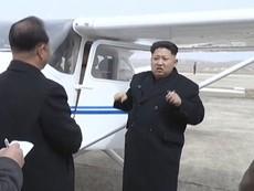 Kim Jong-un lái thử máy bay do Triều Tiên sản xuất