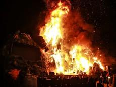 Cận cảnh vụ cháy tại buổi ra mắt phim Kong:Skull Island