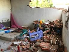 Hiện trường vụ hơn 20 người đập phá 5 phòng trọ