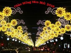 Phố Sài Gòn rực rỡ đèn hoa đón mùa xuân mới