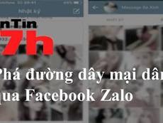 Bản tin 17h: Phá đường dây mại dâm qua Facebook, Zalo