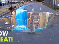 Nhiều người trố mắt khi tranh 3D xuất hiện trên phố