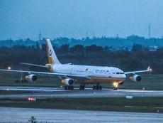 Clip: 'Cung điện bay' của quốc vương Brunei đến Đà Nẵng