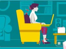 Hướng dẫn ngồi làm việc đúng tư thế cùng máy tính