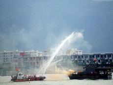 Lính Việt-Mỹ diễn tập sự cố tràn dầu tại Đà Nẵng