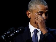 Obama rơi nước mắt cảm ơn vợ trong bài phát biểu