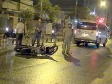 Bị xe container cuốn vào gầm, người đàn ông may mắn thoát chết