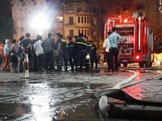 Cháy lớn tại tòa nhà CT1 Vimeco trong đêm tối