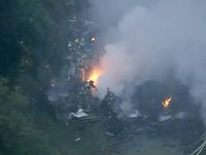 Clip: Máy bay rơi trúng nhà dân, ít nhất 1 người chết