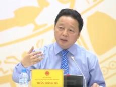 Bộ trưởng Hồng Hà trả lời về vụ nhận chìm bùn, cát