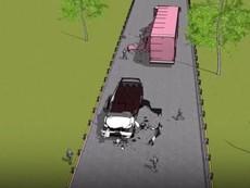 3D mô phỏng 2 xe khách tông nhau khiến 6 người tử vong